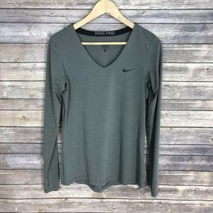 Nike Large Womens Shirt Pro Base Layer Thumbholes